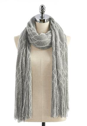 Metallic Diamond Cozy Scarf