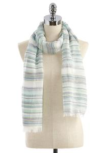 Striped Metallic Oblong Scarf