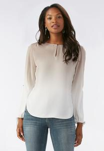 Ombre Slit Sleeve Top