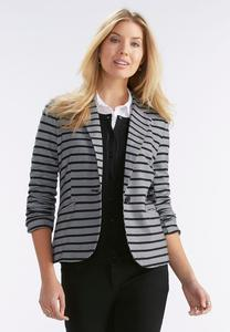 Striped Ponte Blazer