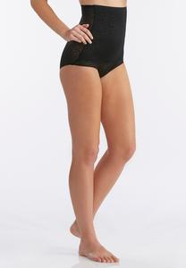 Leopard Mesh High Waist Shaping Briefs-Plus