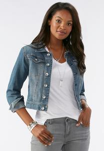 Essential Denim Jacket-Plus