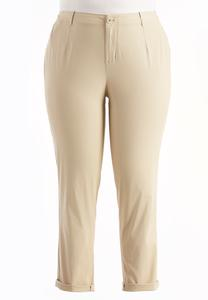 Girlfriend Chino Ankle Pants-Plus