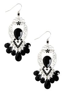 Embellished Filigree Chandelier Earrings