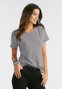 Striped Essential Crew Neck Tee