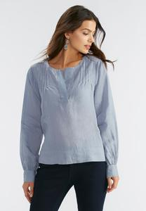 Pintucked High-Low Top