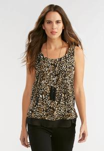 Leopard Print Double Layer Tank