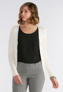 Ribbed Cardigan-Plus