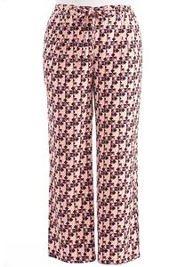 Kaleidoscope Tie Waist Wide Leg Pants-Plus