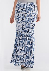 Geometric Mermaid Maxi Skirt