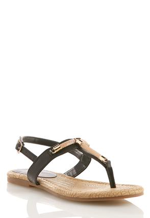 Chain T- Strap Slingback Sandals