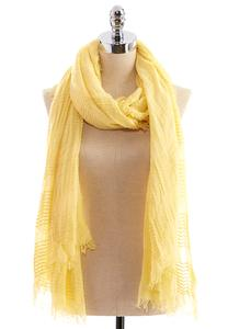 Woven Striped Oblong Scarf