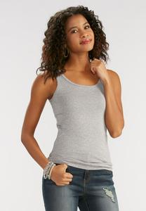 Heathered Tank Top-Plus