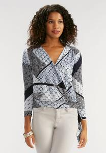 Faux Wrap Printed Top