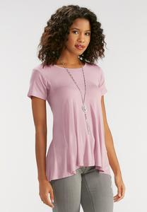 Knit High-Low Swing Top