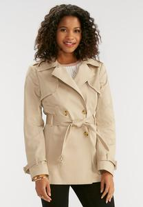 Belted Trench Coat- Plus