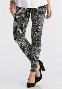 Graphic Plaid Dot Leggings
