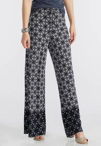 Bordered Star Print Palazzo Pants