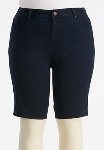 Rinse Wash Bermuda Shorts-Plus
