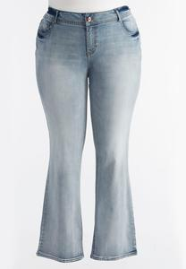 So Soft Stretch Bootcut Jeans-Plus