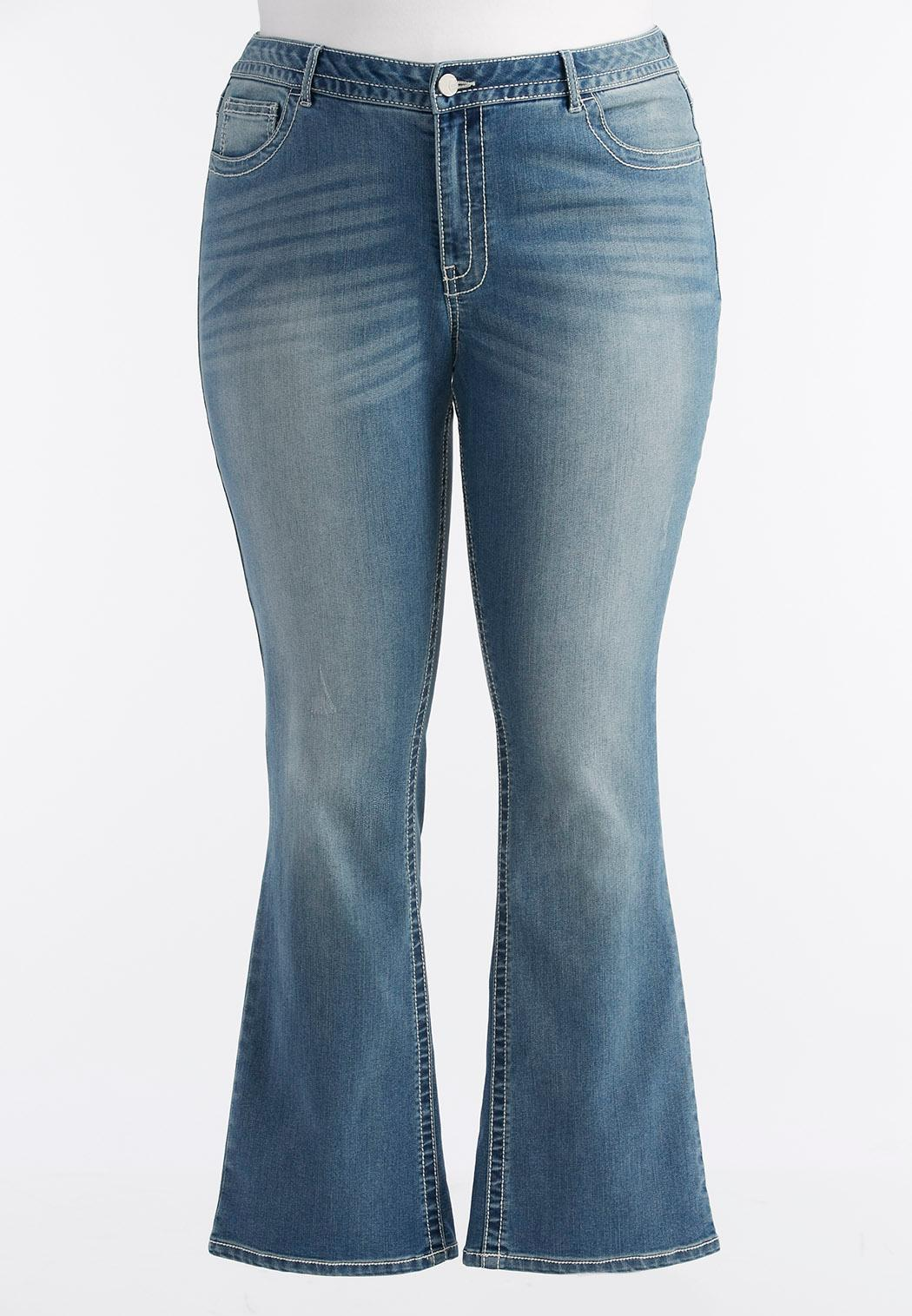 Light Wash Bootcut Jeans-Plus Bootcut | Cato Fashions