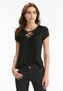 Lattice Neck Top