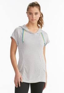 Ruched Athleisure Tunic Hoodie