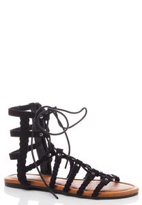 Braided Lace Up Gladiator Sandals