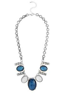 Stone Bar Statement Necklace