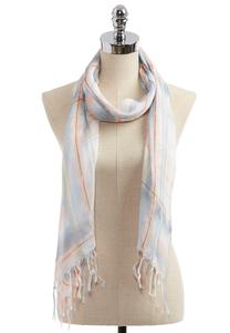 Watercolor Plaid Oblong Scarf