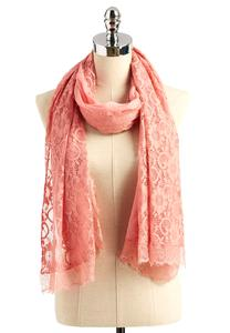 Mixed Lace Oblong Scarf