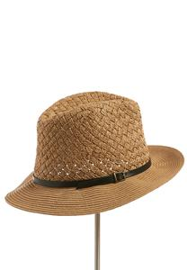 Basket Weave Crown Panama Hat