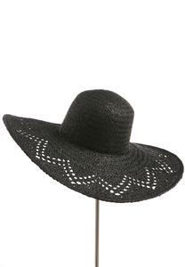 Chevron Open Weave Floppy Hat