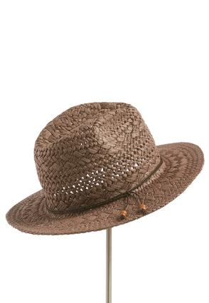 Beaded Double Wrap Band Panama Hat