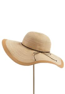 Tonal Striped Floppy Hat