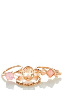 Stacked Rose Gold Ring Set