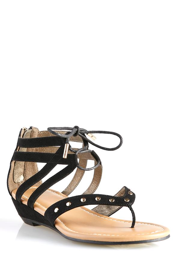 Wide Width Gladiator Wedge Sandals