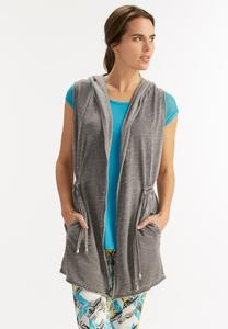 Hooded Drawstring Athleisure Vest