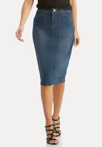 Denim Pencil Skirt