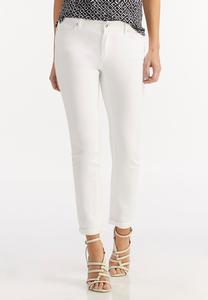 Optic White Skinny Ankle Jeans