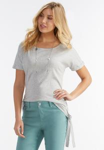 Ruched Tie Side Top-Plus