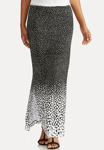 Ombre Dot Maxi Skirt