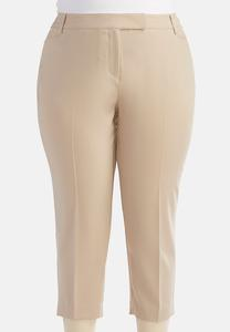 Shape Enhancing Crop Pants-Plus