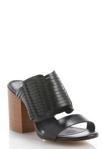 Huarache Chunky Heeled Sandals
