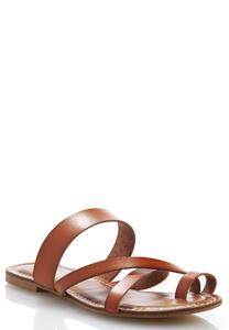 Wide Width Toe Loop Cross Band Sandals