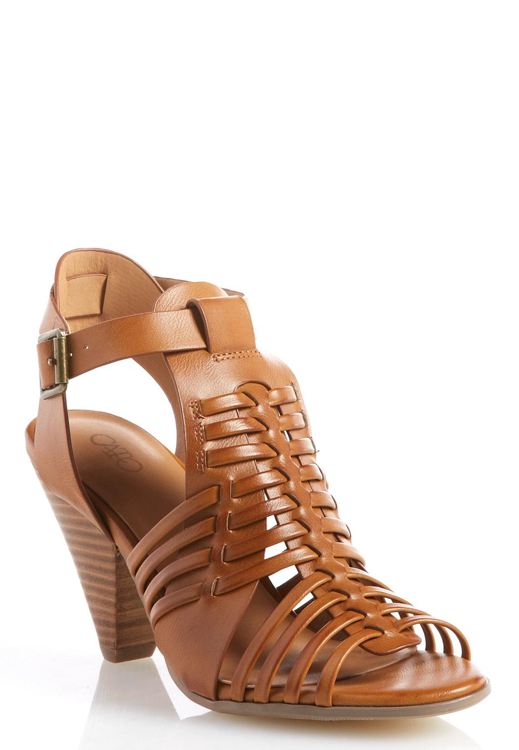Huarache Cone Heel Shooties Ankle Amp Shooties Cato Fashions