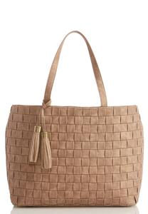 Basket Weave Front Tote
