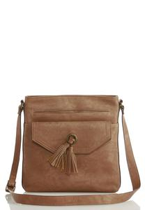Tasseled Front Pouch Crossbody