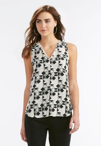 Triangle Kaleidoscope High-Low Tank