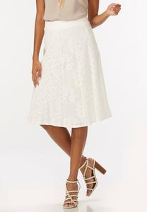 Lace A-Line Midi Skirt